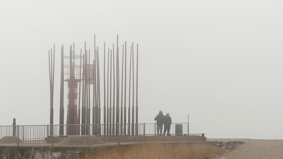 Snelopkomende mist weinig zicht
