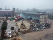 Demolition of the Old Harrowlodge Sports Centre