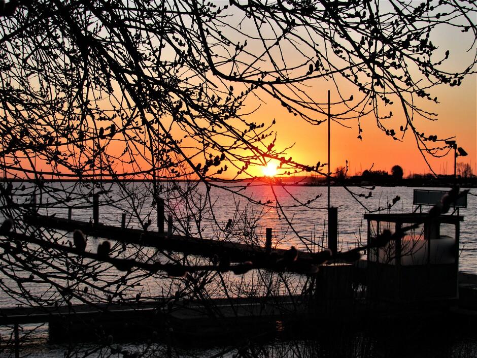 Fraaie zonsopkomst vanmorgen aan het Veerse Meer in Kortgene, het was maar 2 graden en wind brr, wel heel mooi