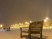 Snow cover Gorleston beach