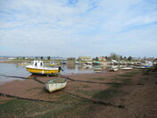 Boats on the Estuary behind Camperdown Terrace.