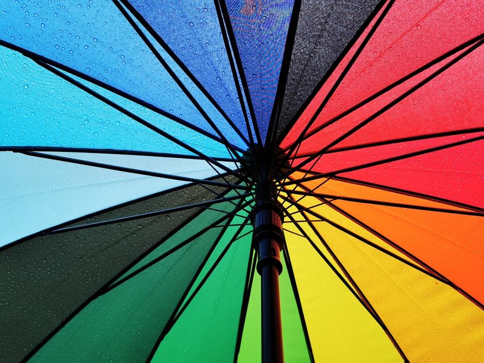 Gelukkig hebben we de paraplu bij ons