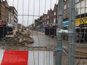 Barking Town centres main pedestrian thouroghfare dug up