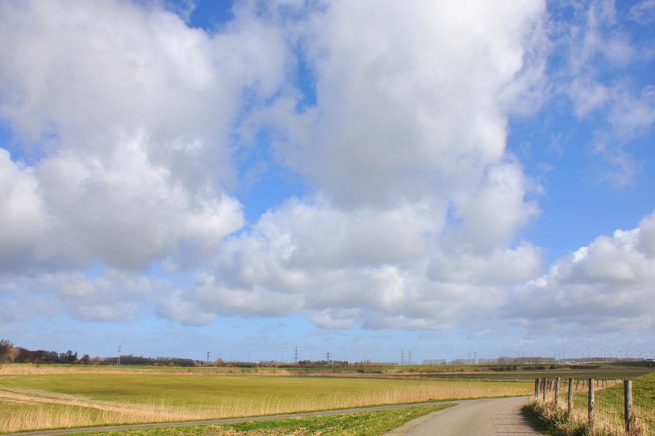 Prachtige stapelwolken.