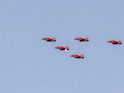 Red Arrows over Fakenham