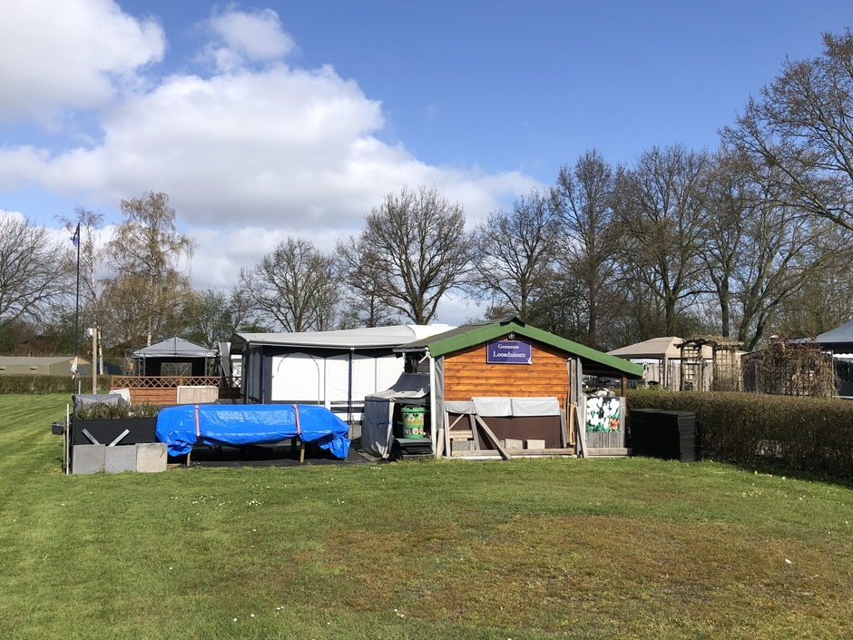 Camping gasten laten tent dicht