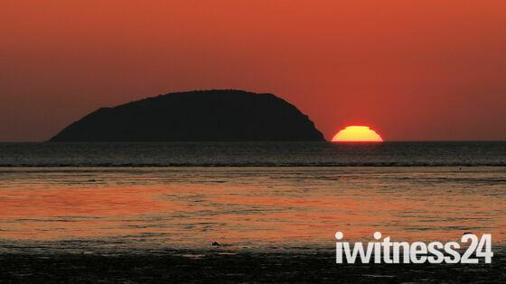 Steep Holm at sunset
