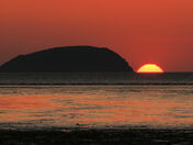Steep Holm at sunset