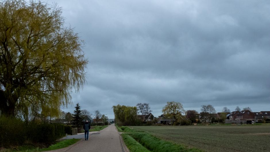 Wandelen voor het slecht weer wordt