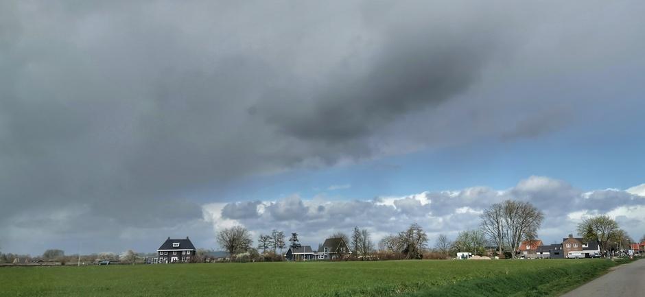 Mooie wolkenluchten vandaag