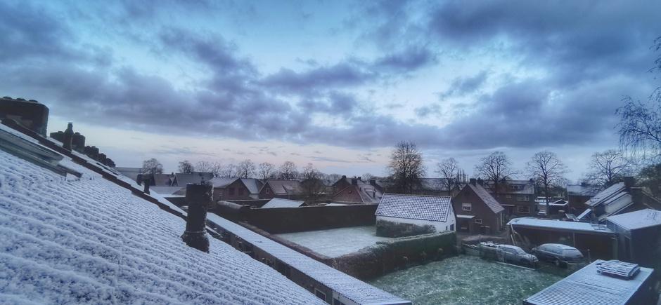 Een beetje wit vanmorgen