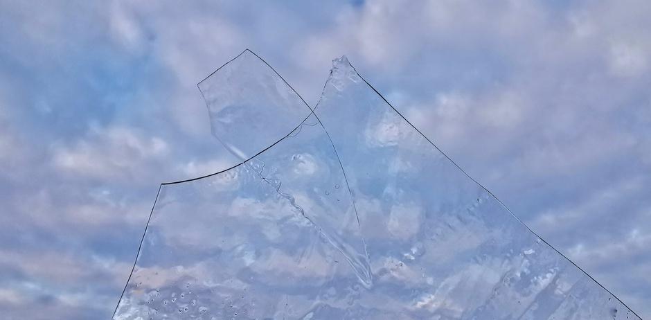 Een flinterdun laagje ijs vanmorgen
