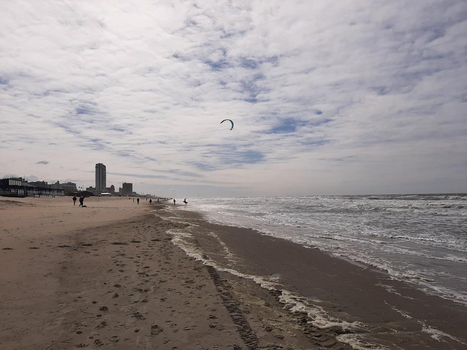 Veel wind aan de kust