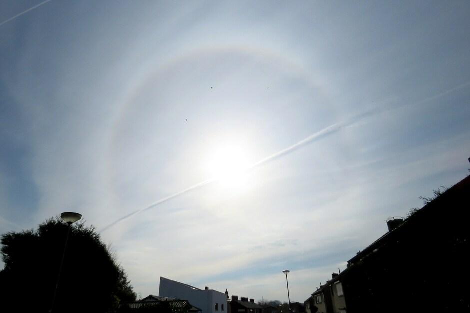 Halo om de zon in Schinveld