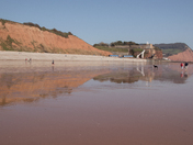 Images od the very low tide on 30 March 2021