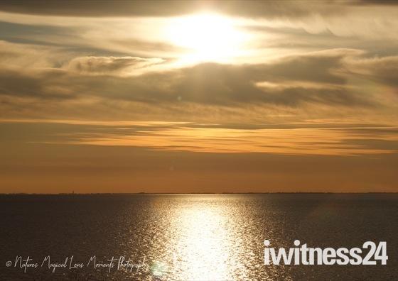 Sunset Over The Cliff Tops Of  Old Hunstanton, Norfolk