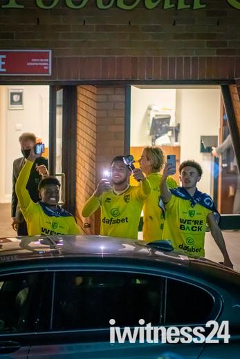 Norwich City celebrations