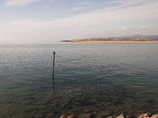Clear water over at the Exmouth Sea-front on the approach to the Exmouth Marina