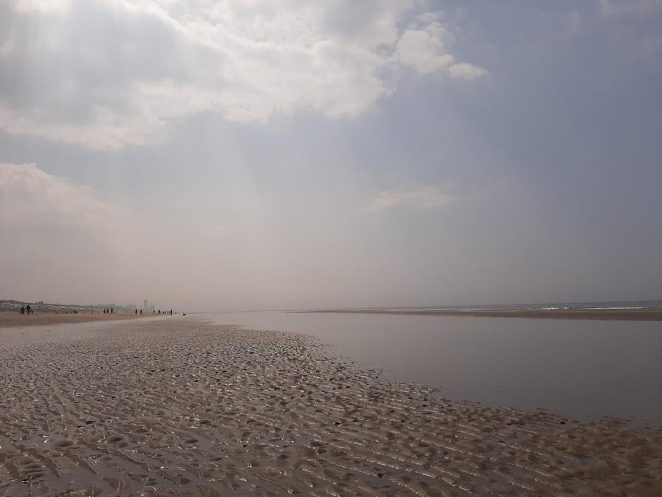 Beetje mistig richting Zandvoort