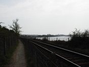 From footpath next to the single track line