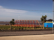 The swings at Exmouth sea-front.