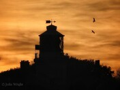 Lowestoft lighthouse in the sunset