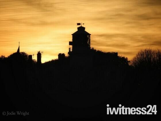 Lowestoft lighthouse at sunset