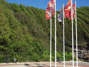 Flags up at Orcombe Point (Queen's Drive)