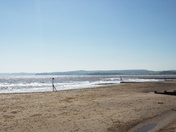 Low tide on Exmouth's beaches