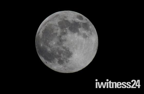 Super moon over Washbrook Suffolk