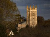 Evening light over St Mary's, Redenhall