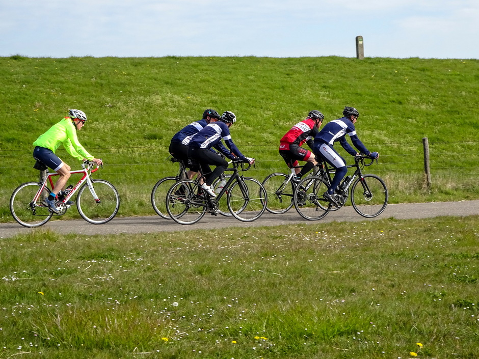 Zonovergoten dag ideaal fietsweer