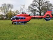Devon Air Ambulance lands at Exeter Cross