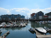 Exmouth Marina with the cloud reflections