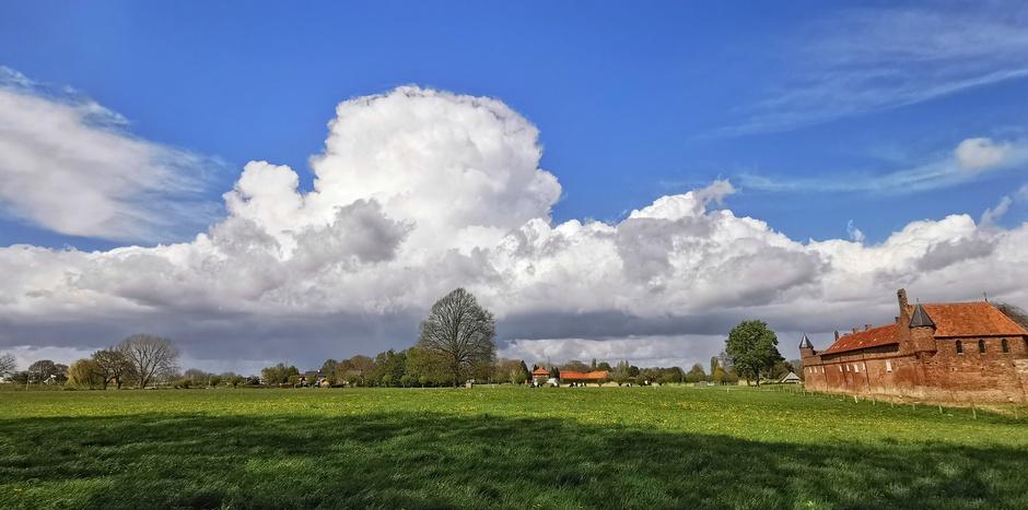 Indrukwekkende cumulus vanmiddag
