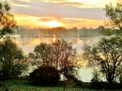 Sunrise over Earsham Pits