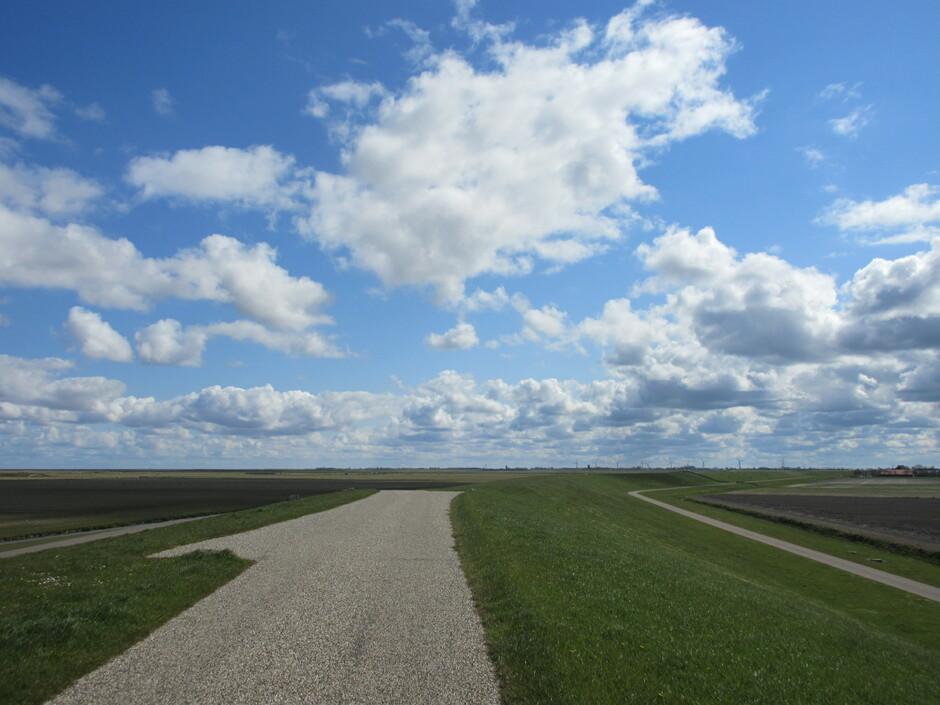 Prachtige wolken en blauwe lucht