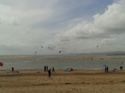 Windsurfing on Exmouth Beach