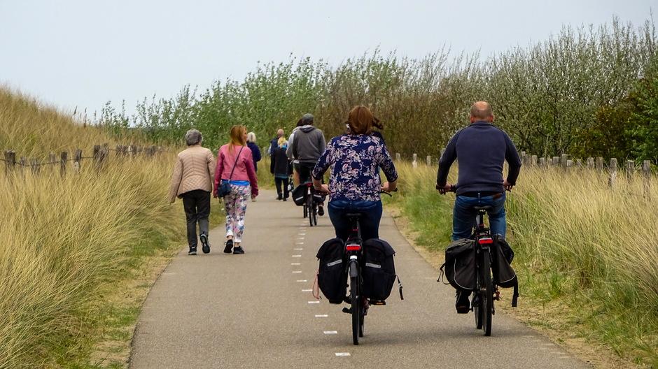 Bewolkt droog wandel/fietsweer