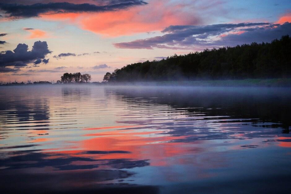 Mist over het water