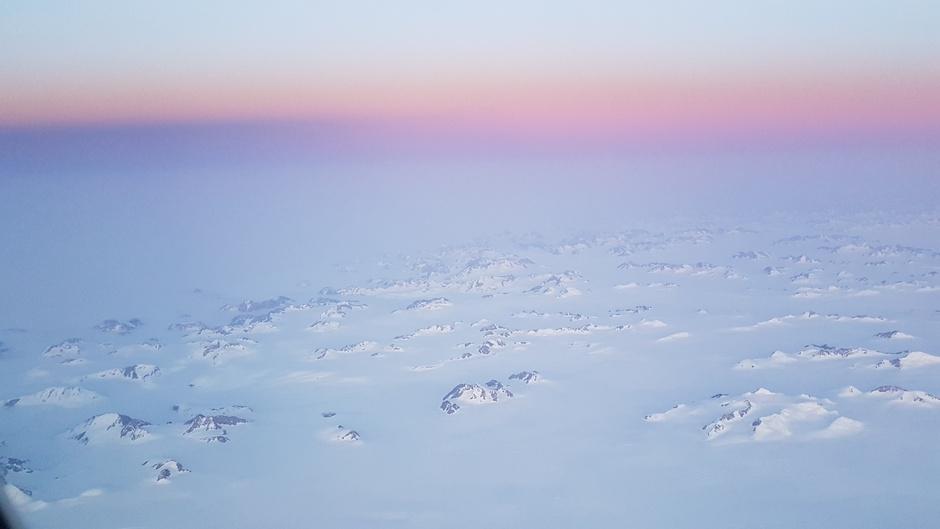 Op 10km boven IJsland