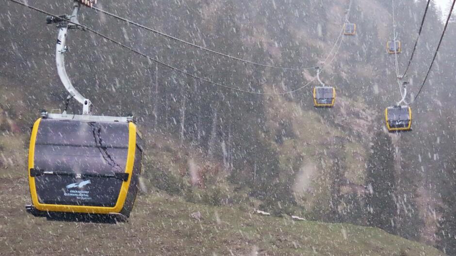 Alpen: koude morgen