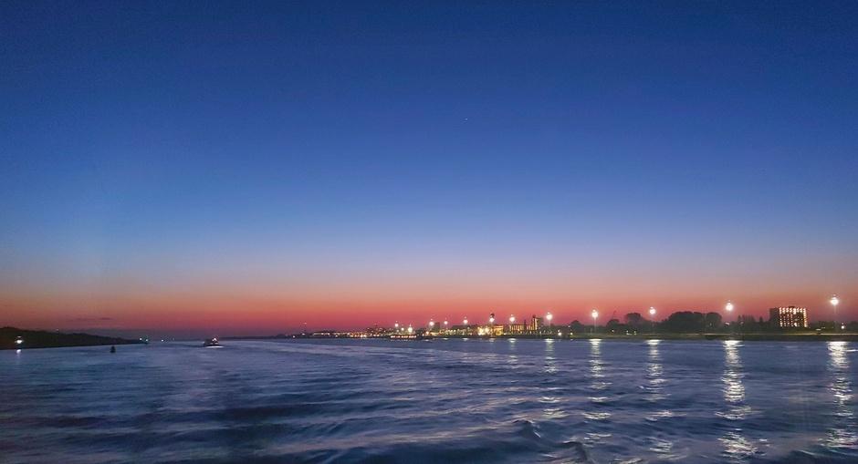 Mooi na zonsondergang