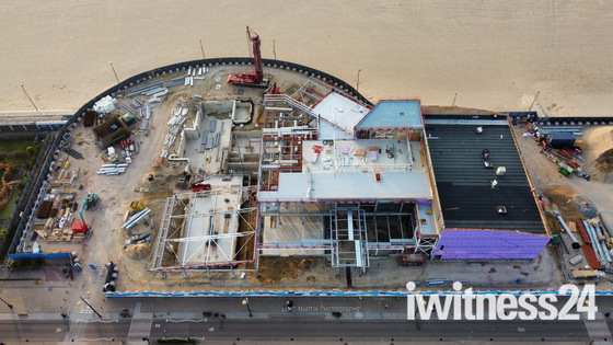 Marina centre Great Yarmouth construction...