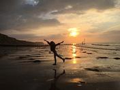 Cromer beach sunset