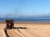 Shifting the beach at Exmouth, grain by grain of sand