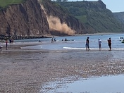 Sidmouth cliff fall 5th June