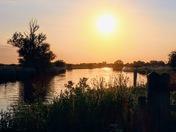 Summer evening along the Bure.