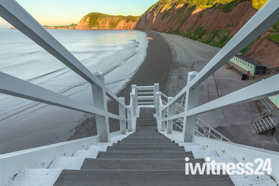 Early Morning at Jacobs Ladder Sidmouth