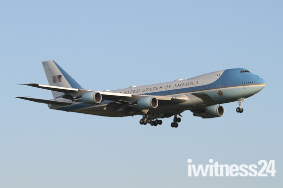 USAF VC-25A 'Air Force One' at Mildenhall